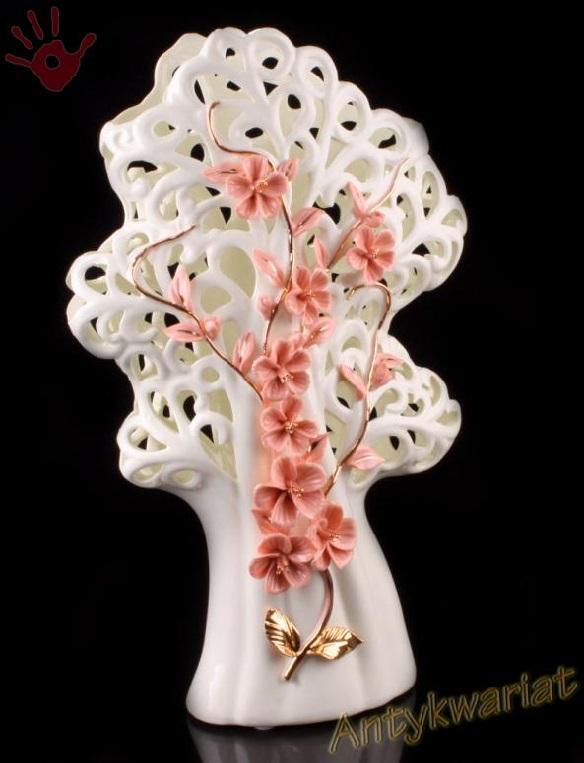 Wazon ażurowy porcelana